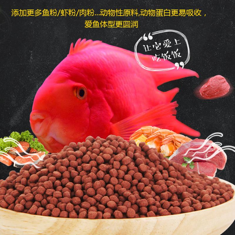 名亨鱼粮小颗粒鱼饲料小型热带罗汉发财鱼